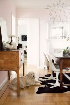 I love @sfgirlbybay / victoria smith dining room + the Orbit Chandelier. [chandelier @ H here: http://www.houseandhold.com/patrick-townsend-orbit-chandelier.html
