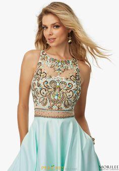 MoriLee Beaded A Line Dress 99088