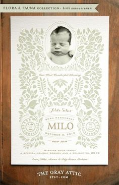 These are beyond gorgeous - The Gray Attic - Etsy birth announcements sports, baseball birth announcements #baby #newborn