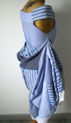 What better way to reuse shirts, than to take them back to their source material and redesign an entirely new garment.