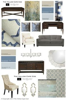 The Yellow Cape Cod: A Sophisticaed Dining/Living Room (shhh…and an incognito office)