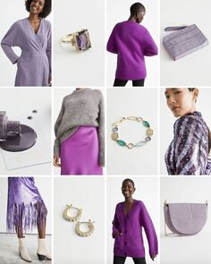 #andotherstories #purple #moodboard #colour #fashion #inspiration #outfit #block