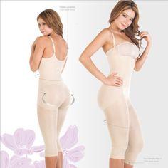 Shapewear Lycra – Nylon Body Shapewear. Braless. Adjustables Straps. Capri type. Bodysuit Magic Body Shaper for women Fajas