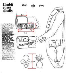 Královská uniforma - TOTO JE ROK 1786 - 1791 MÁ VODOROVNÉ KAPSY!!