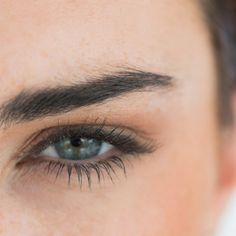 Brows: Use eye shadow a shade slightly darker than your hair color and fill eyebrows in with shadow and a brow brush, rather than a pencil.