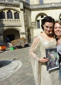 Katie with fan