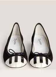 Piano keys ballet flats #SuperCute #MusicFashion