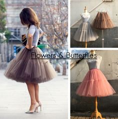 WORLDWIDE FREE SHIPPING Custom Made Women by FlowersButterflies15 Tulle Wedding, Wedding Bridesmaids, Ball Skirt, Cheap Skirts, Pleated Midi Skirt, Vintage Skirt, Tutu, Clothes For Women, Trending Outfits
