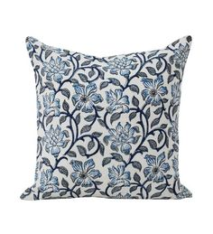Tezerac Blue Cotton Cushion Cover by Tezerac Online - Nature and Florals - Furnishings - Pepperfry Product