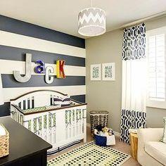 Striped Nursery, Contemporary, nursery, J and J Design Group