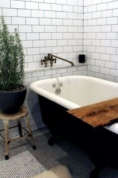 Decor Plants And Flowers Modern Bathroom Design For Spring : Bathtubs With Greenery For Modern Bathroom Design For Spring