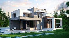 DOM.PL™ - Projekt domu SZ5 Zx125 CE - DOM SZ4-44 - gotowy projekt domu