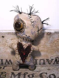 Handmade Voodoo Doll Voodoo Amethyst by JunkerJane on Etsy