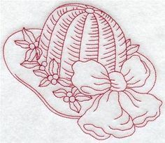 Machine Embroidery Designs at Embroidery Library! - Victorian Fashion (Redwork)