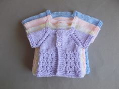 Dewdrop Baby Jacket ~ Preemie & Newborn Sizes Newborn, Large Preemie, Medium Preemie, Small Preemie Beautiful as a gift for an e. Baby Cardigan Knitting Pattern Free, Crochet Baby Jacket, Knitted Baby Cardigan, Knit Baby Sweaters, Crochet Baby Clothes, Baby Knitting Patterns, Baby Patterns, Baby Knits, Crochet Patterns
