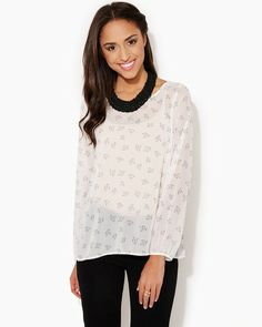 Spread Your Wings Top | Apparel | charming charlie