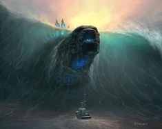 Godzilla Movie / Monsterverse News: Godzilla and visual spectacles go hand in hand and thanks to G-Fan N. Kong 2020 News, Gojira Toho Movie News All Godzilla Monsters, Sea Monsters, Godzilla Godzilla, Godzilla Comics, Fantasy Creatures, Mythical Creatures, Godzilla Wallpaper, King Kong, Monster Art