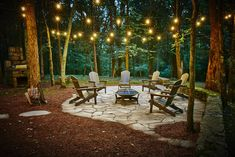 """Obtain fantastic suggestions on """"outdoor fire pit designs"""". They are actually offered for you on our web site. Backyard Patio Designs, Backyard Landscaping, Wooded Backyard Landscape, Back Yard Patio Ideas, Oasis Backyard, Front Yard Patio, Natural Landscaping, Backyard Paradise, Tropical Landscaping"""