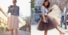 Chaqueta biker y falda de tul, ¡la combinación de moda!