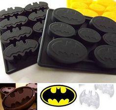 Batman Ice Cube Tray Bat Mold Silicone Cake Topper Soap Comic Chocolate Mould                                                                                                                                                                                 More