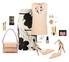 """Brown"" by dmiddleton ❤ liked on Polyvore"