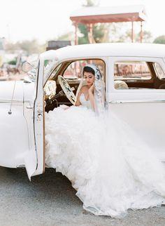 elegant bride // photo by Valentina Glidden // http://ruffledblog.com/elegant-orange-county-wedding