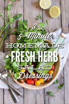 3 Five-Minute Fresh Herb Salad Dressings - Live Simply