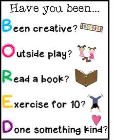 Classroom Freebies: Free I'm Bored Poster