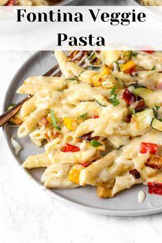 Vegetable Pasta Recipes, Penne Pasta Recipes, Roasted Vegetable Pasta, Italian Pasta Recipes, Veggie Pasta, Corn Recipes, Pasta Dishes, Veggie Meals, Cheese Recipes