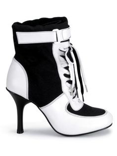 AwesomeNice Referee High Heel Force Lace Up Ankle Boot - 9