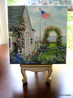 """A new painting I did, 6""""x 6"""". I want to spend summer here!"""