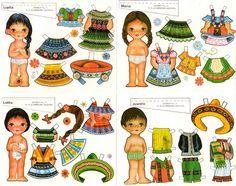 Lupita, Maria, Lolita, & Juanita paper dolls