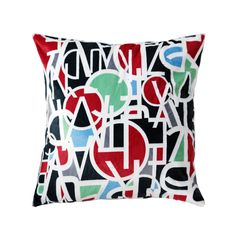 'Letter Stack' Throw Pillow