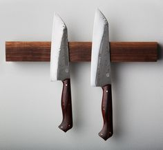"Cocobolo Couples ""Heart"" Chef Knife Set forged-to-shape by Don Carlos Andrade."