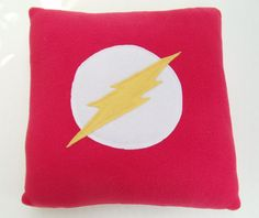 Justice League Flash Pillow by MadgeinationCrafts on Etsy, $20.00