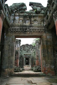 Siem Reab - This was taken in one of the temples in the Angkor Wat vicinity - PREAH KHAN.