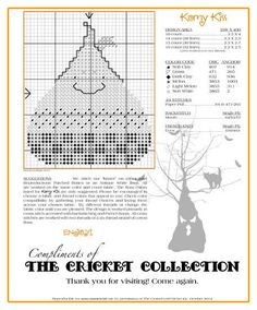 The Cricket Collection! - Our Gift to You! -- Free chart from Cross-Eyed Cricket