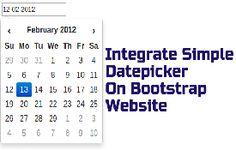 Integrate Simple Datepicker On Bootstrap Website Premium Wordpress Themes, Integrity, Coding, Ads, Website, Simple, Blog, Tutorials, Check