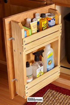 Cheap Kitchen Cabinets, Kitchen Storage, Kitchen Decor, Diy Wood Projects, Home Projects, Diy Rangement, Diy Home Repair, Classic Home Decor, Diy Décoration