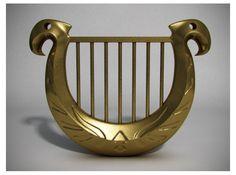 Goddess Harp Mini Replica Pendant · Much Needed Merch · Online Store Powered by Storenvy