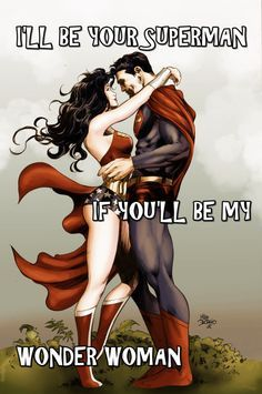 Superman and Wonder Woman to me both symbolize Jupiter and his wife Juno. Superman and Wonder Woman edition Mundo Superman, Superman Love, Superman Wonder Woman, Wonder Woman Kunst, Wonder Woman Art, Wonder Women, Wonder Woman Quotes, Comic Book Characters, Superman