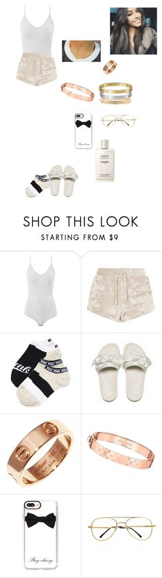 """Untitled #1055"" by chicmariaa ❤ liked on Polyvore featuring Intimissimi, Topshop, Cartier, Louis Vuitton, Casetify and Chanel"