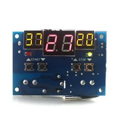 XH-W1401 Intelligent Digital Temperature Controller Detect 10A 12V 220V With NTC Sensor Three Window Synchronous Red LED Display