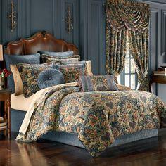4 Piece J Queen New York Anastasia Red King Comforter Set