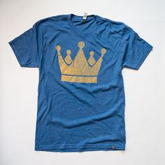 """Freelance Brand Clothing """"The Crown"""" men's tee, $28, from #KC Garment Collective. #Royals #TakeTheCrown"""