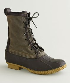 """Signature Women's Waxed-Canvas Maine Hunting Shoe, 10"""" / a new pair of bean boots (size 8)"""