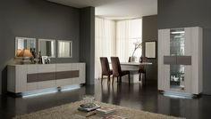 Salle à manger complète contemporaine chêne blanchi Luxus http://www.matelpro.com/salle-a-manger-complete-luxus.html