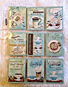 Pocket Pen Pal Letter Kit~sleeve protector~Theme Coffee Time~#29~judysjemscrafts