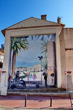 Wall paints, Muurschilderingen, Peintures Murales,Trompe-l'oeil, Graffiti… Cannes, France