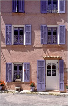 Darling, I had the house in Provence painted Pink and had the shutters done in lavender to go with our lavender fields.....